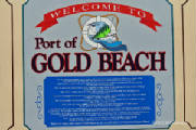 Port of Gold Beach sign