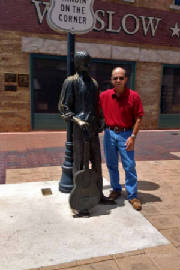 Fred Standin' On the Corner in Winslow, Arizona