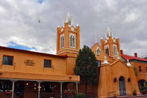 Historic church in Old Town Albuquerque