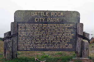 Battle Rock City Park sign