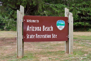 Arizona Beach sign