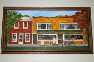 Painting of Tujetsch Grocery Store