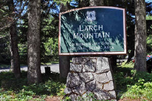 Larch Mountain sign