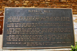 Plaque about Buffalo Bill