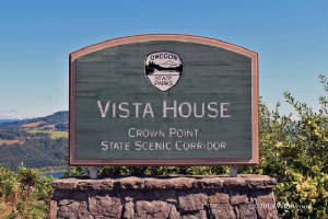 Vista House Crown Point sign