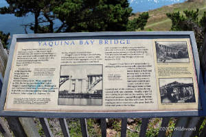 Yaquina Bay Bridge sign