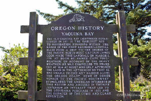 Yaquina Bay Historic Lighthouse sign