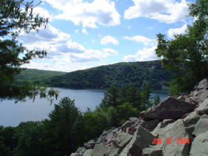 Devil's Lake from Cliffs