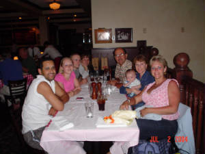 Family at the restaurant