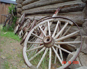 Wagon Wheels at Old Trail Town