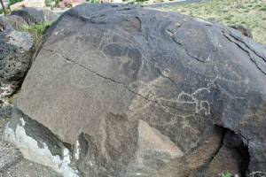 Petroglyph of Animals and Symbols