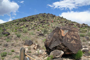 Petroglyph Escarpment - Yes, We Climbed It!